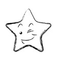 kawaii star funny character emoticon image vector image vector image