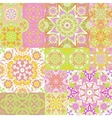 Large set of colorful vintage ceramic tiles with vector image vector image