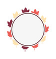 leaves nature autumn label sticker vector image