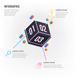 modern and minimal 3d infographic vector image vector image