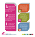 Modern Design template Seven color included vector image vector image