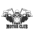 Motor Club Emblem Death on a motorcycle in glasses vector image vector image