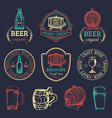 old brewery logos set kraft beer retro images vector image vector image