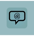 Pale blue e-mail message icon vector image
