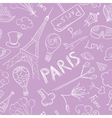 Paris Sketch Pattern vector image vector image