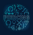 piercing blue round on dark vector image