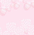 pink strawberry yoghurt seamless pattern vector image vector image