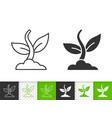 plant simple black line icon vector image