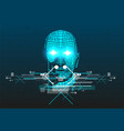 poster with 3d man head vector image vector image
