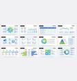 presentation slide business project report vector image vector image