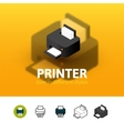 Printer icon in different style