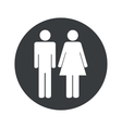 Round man and woman icon vector image vector image
