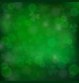 saint patricks day green background vector image vector image