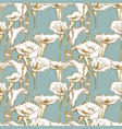 seamless background of calla lilies sketches vector image vector image