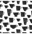 Seamless pattern with cups mugs vector image vector image