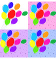 set of bright colored balloons vector image vector image