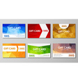 Set polygonal gift cards vector image vector image