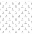 simple poker cherry seamless pattern with various vector image vector image