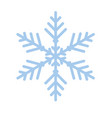 snowflake winter new year blue art symbol icon vector image vector image