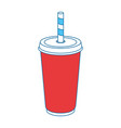 soft drink cup icon vector image vector image