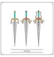 Spiky Fantasy Sword vector image vector image