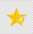 star icon music note icon vector image vector image