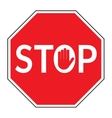stop sign on white background vector image vector image