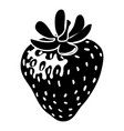 strawberry icon simple style vector image