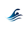 swim pool swimming pool icon human is swimming vector image