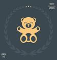 teddy bear icon vector image vector image