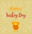 thanksgiving funny turkey on white background vector image vector image