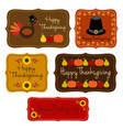 thanksgiving labels clipart vector image vector image