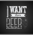typographic retro grunge phrase beer poster vector image vector image