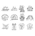 vintage simple camp logo designs set outdoor vector image