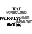 ways to make big in japan text word cloud concept vector image vector image
