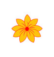yellow flower logo vector image