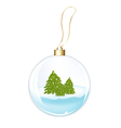 New Years Sphere With Fur-trees vector image