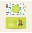 Business cards for animal grooming Promotional vector image