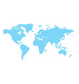 world map with blue circles vector image