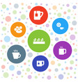 7 bean icons vector image vector image