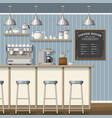 a classic coffee shop vector image vector image