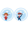 a super hero character vector image