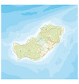 abstract island map pattern with topographic vector image