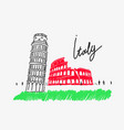 attractions italy vector image
