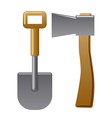axe and shovel vector image vector image