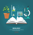 biology laboratory workspace and science vector image vector image