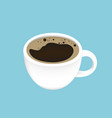 black coffee in a cup vector image vector image