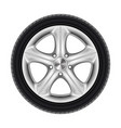 black rubber car wheel tyre tire with star disk vector image vector image