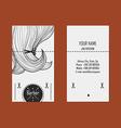 Business card hairdresser barber 2 vector image vector image