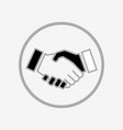 business handshake icon vector image vector image